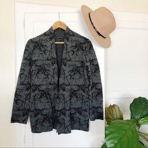 Eileen Fisher Merino Wool Blend Grey Cardigan M